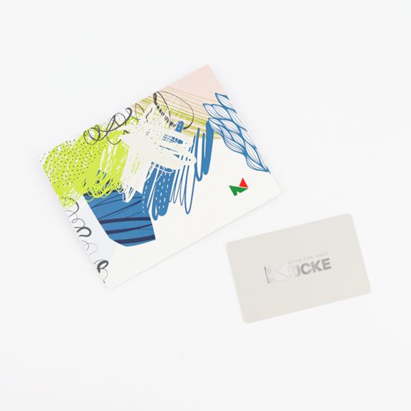 Schuh Mücke  Geschenkkarte/Wertgutschein beige