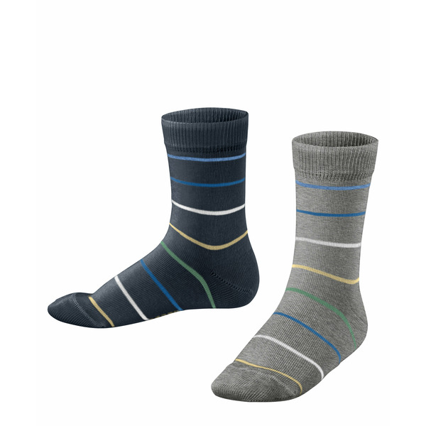 ESPRIT  Socken Colorful Stripes 2-Pack schwarz